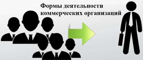 формы коммерческих организаций